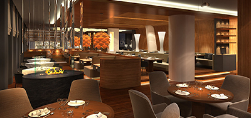 3d render of a restaurant interior